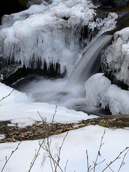 Bach, Winter, Ice, Waterfall, Cascade, Austria, Styria