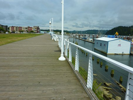 Boardwalk, Pier, Harbor, Bay, Water, Dock, Walkway