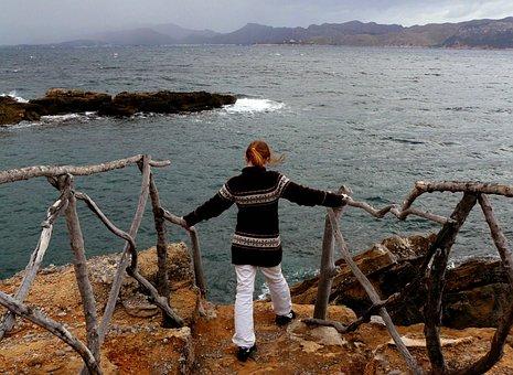 Sea, Water, Wave, Coast, Nature, Landscape, Sky, Clouds
