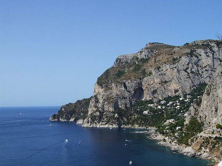 Sea, Coast, Coastline, Amalfi Coast, Rocky, Cliffs