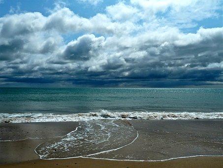Sea, Coastline, Sunset, Shore, Coast, Ocean, Horizon