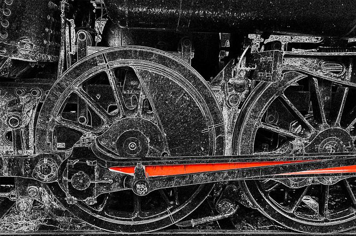 Connecting Rods, Steam Locomotive, Drive, Technology