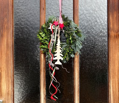 Door Wreath, Advent, Door Decoration In The Advent