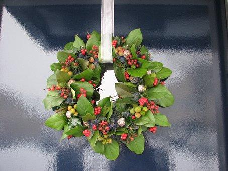 Wreath, Christmas Wreath, Christmas, Green, Creative