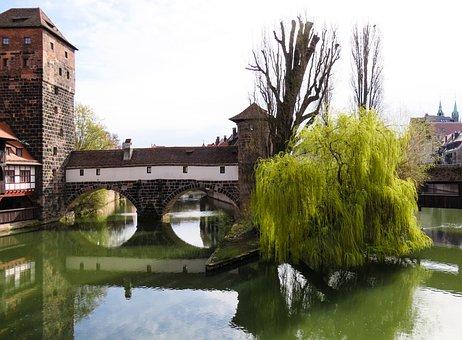 Nuremberg, Hangman's Bridge, Old Town, Bridge