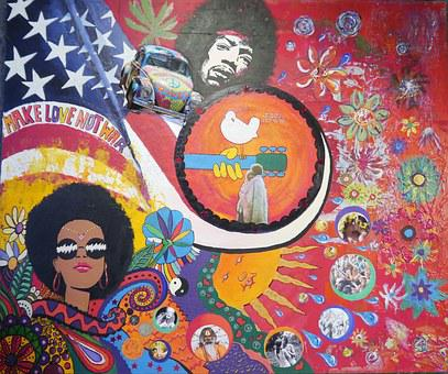 Woodstock Art, Hippi, Colorful, Paint, Acrylic Paints
