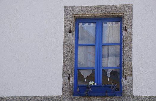 Window, Blue, Street, Flowers, City, House