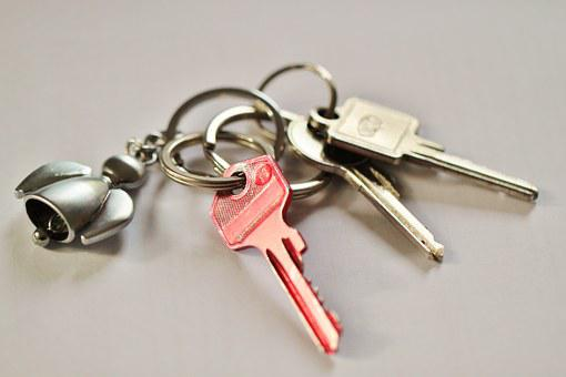 Keychain, Key, Door Key, House Keys, Shut Off, Security