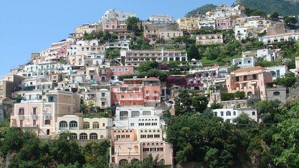 Italy, Coastal, Town, Amalfi, Coast, Tourism, Italian