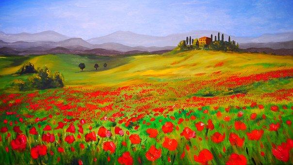 Painting, Art, Landscape, Acrylic
