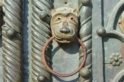 Medieval, Door, Doorknob, Old, Ancient, Architecture