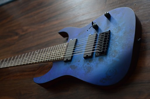 Ibanez Rg8pb, Blue, Guitar, 8 String, Ibanez, Metal