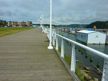 Boardwalk, Pier, Harbor, Bay, Water, Dock, Walkway