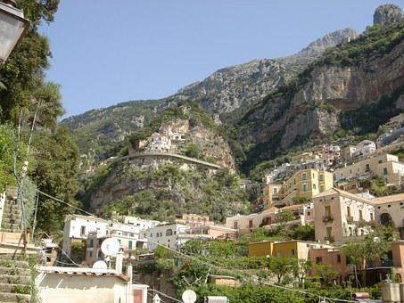 Positano, Amalfi Coast, Italy, Hillside, Architecture