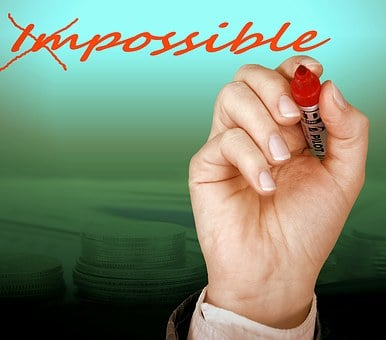 Possible, Impossible, Opportunity, Hand, Write, Option