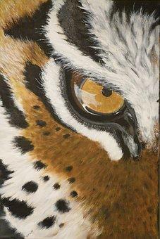 Tiger, Cat, Dangerous, Predator, Painting, Art