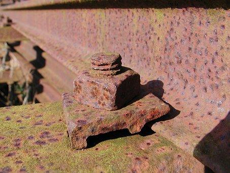 Rust, Nut, Corrosion, Fastener, Engineering, Railway