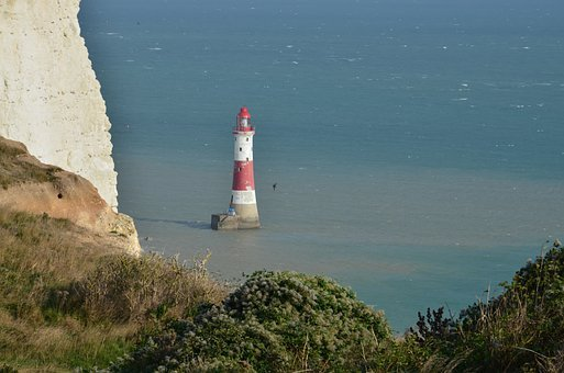 Sea, Coast, East Sussex, Beachyhead Lighthouse