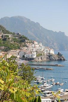 Amalfi, Coast, Italy, Sea, Mediterranean, Europe