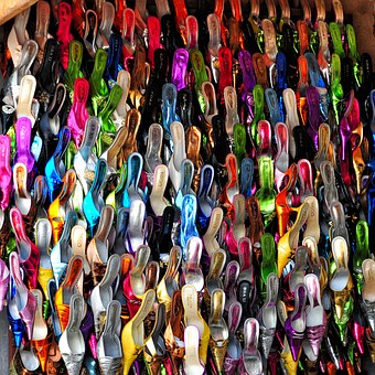 Shoe, Market, Senegal, Colors, Slippers