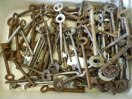 Skeleton, Keys, Antique, Security, Vintage, Lock, Metal