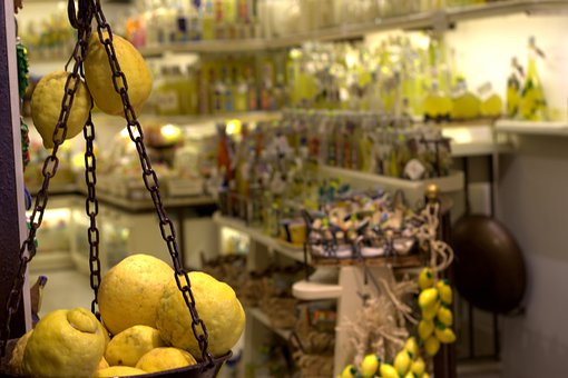 Lemon, Amalfi Coast, Limoncello, Store, Fruit, Juicy