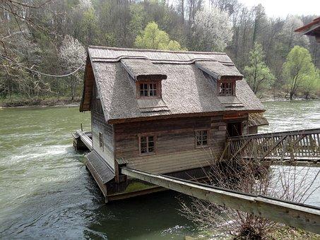 Ship Mill, Styria, Bruck Of Muhr, 19, Century, River