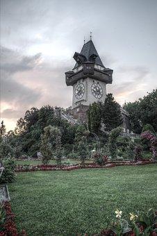 Graz, Clock Tower, Austria, Styria, Landmark