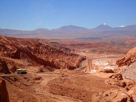 Atacama Desert, Chile, Desert, Summer, Sun, Hot, Dry