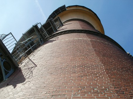 Water Tower, Schwetzingen, Germany, Bricks, High, Tower