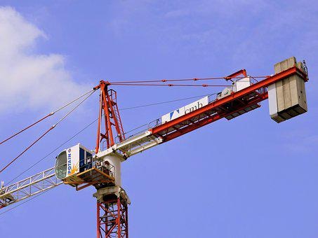 Crane, Construction, Work, Building, Height, Sky