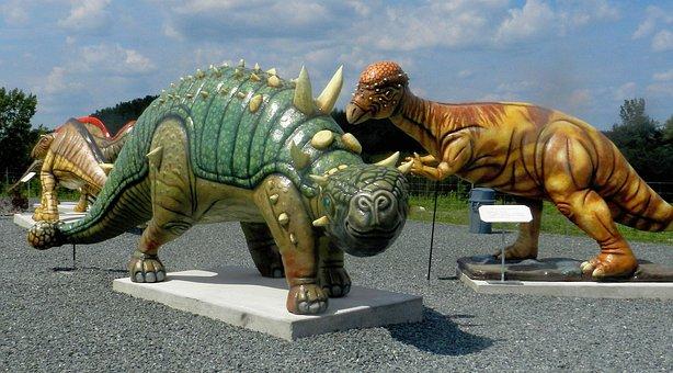 Dinosaurs, Figures, Plastic, Dino, Animal, Cartoon