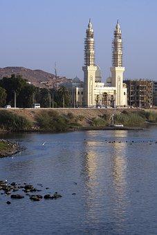 River Nile, Aswan, Mosque, Construction, Architecture