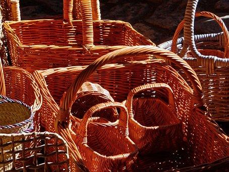 Wicker Baskets, Wicker, Baskets, Craft, Handmade