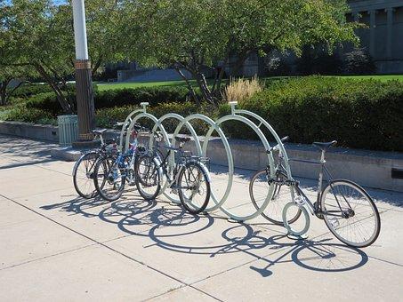 Bicycles, Parking, Bike, Urban, Transport, Vehicle