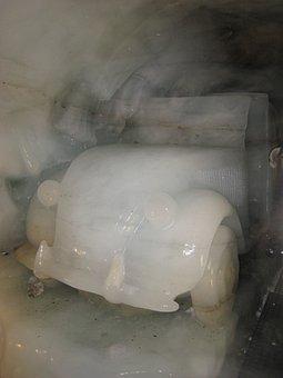 Sculpture, Ice, Car, Glacier, Mountains