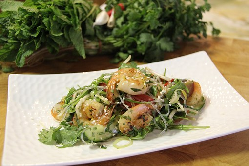 Prawn, Noodle, Salad, Dinner, Seafood, Meal, Thailand