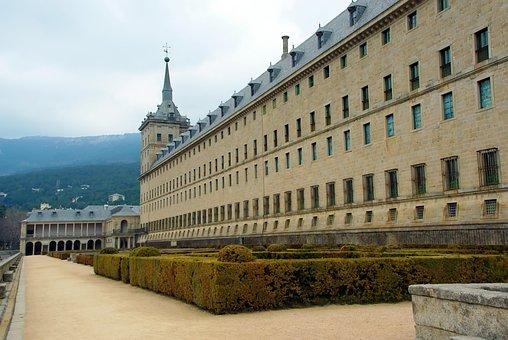 Spain, Escorial, Castle, Royal Residence, Facade