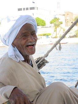 Nubians, Nubia, Egypt, Nile, Felucca, Old, Man, Face