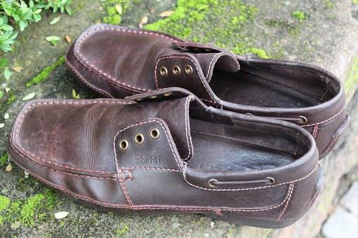 Leather Shoes, Shoes, Fashionable, Shoelace, Lost