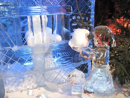 Ice Sculpture, Ice, Festival, Hansel And Gretel