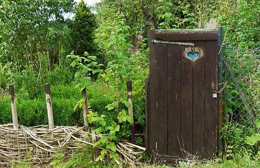 Garden Gate, Door, Goal, Fence, Input, Wood, Garden