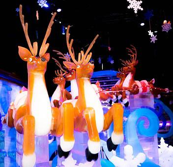 Ice Exhibit, Gaylord Palms, Ice Sculptures, Ice
