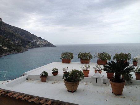 Italy, Positano, Nature, Beautiful, Water, Ocean