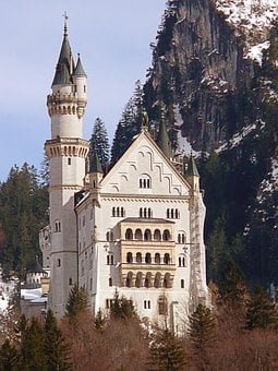 Neuschwanstein, Castle, King Ludwig The Second, Bavaria
