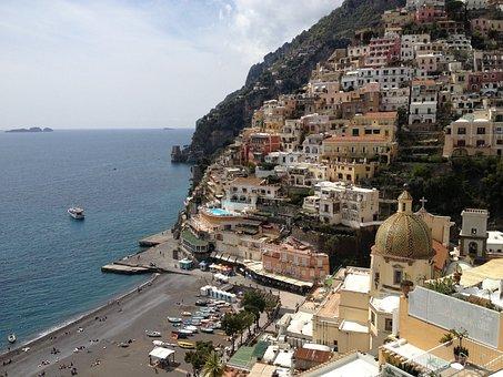 Italy, Positano, Nature, Beautiful, Water, Ocean, Beach