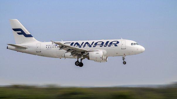 Aircraft, Landing, Airbus, A319, Passenger Aircraft
