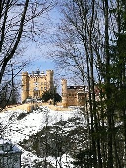 Hohenschwangau, Rock, Castle, Places Of Interest