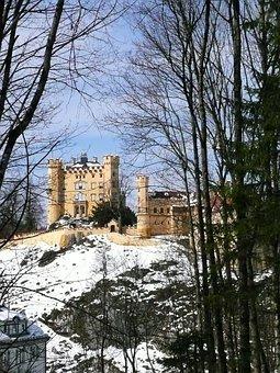 Hohenschwangau, Rock, Castle, Places Of Interest
