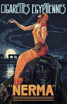 Vintage, Poster, Print, Advertisement, Cigarettes
